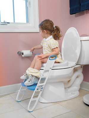 Mommyu0027s Helper Contoured Cushie Step-Up Padded Potty Seat with Step Stool : step up stool for toddlers - islam-shia.org