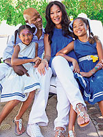 Kimora Lee Simmons Djimon Hounsou Name Son Kenzo Moms