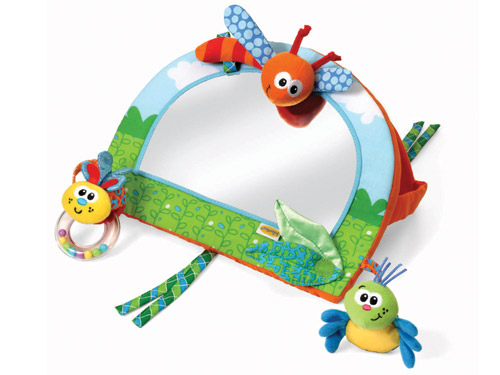 Infantinou0027s Cute, New 2 In 1 Activity Mirror ($15) Fastens Easily To A Crib  Or, Thanks To An Ingenious, Fabric, Easel Like Back, It Can Prop Up On The  Floor ...