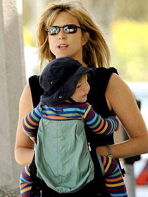 Courtney Thorne Smith Carries Her Stripey Son Moms