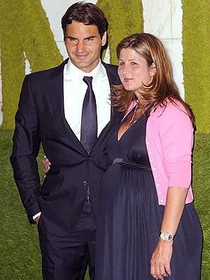 Roger and Mirka Federer Celebrate Wimbledon Win Moms Babies