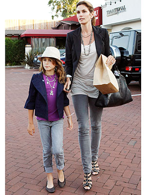 Cindy crawford and kaia coordinated cool