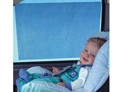 the prince lionheart on the go car sunshade kit is a static cling sunshade that sticks to car windows designed to shade your children from the suns rays