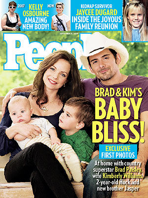 brad paisley and wife and baby. Meet Jasper Warren Paisley!