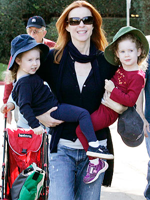 Marcia Cross Gives Her Little Ones Lift
