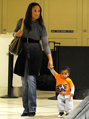 Laila Ali and CJ Touch DownLaila Ali Son