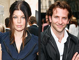 Fergie & Bradley Cooper Catch a Fashion Show in Paris | Bradley Cooper, Fergie