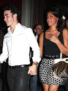 Kevin Jonas and fiancee Danielle Deleasa