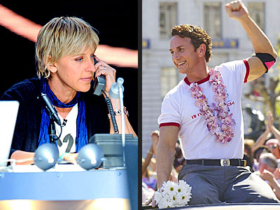photo | Ellen DeGeneres, Sean Penn