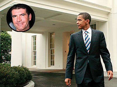 photo | Barack Obama, Simon Cowell
