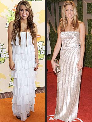 photo | Jennifer Aniston, Miley Cyrus