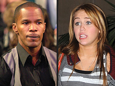 photo | Jamie Foxx, Miley Cyrus