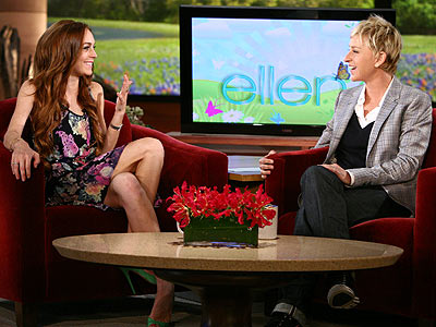 photo | Ellen DeGeneres, Lindsay Lohan