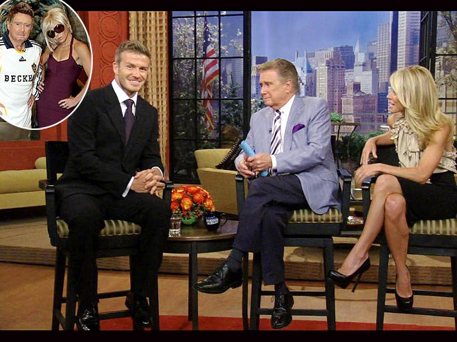 photo | David Beckham, Kelly Ripa, Regis Philbin