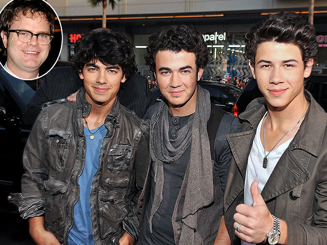 photo | Joe Jonas, Jonas Brothers, Kevin Jonas, Nick Jonas, Rainn Wilson