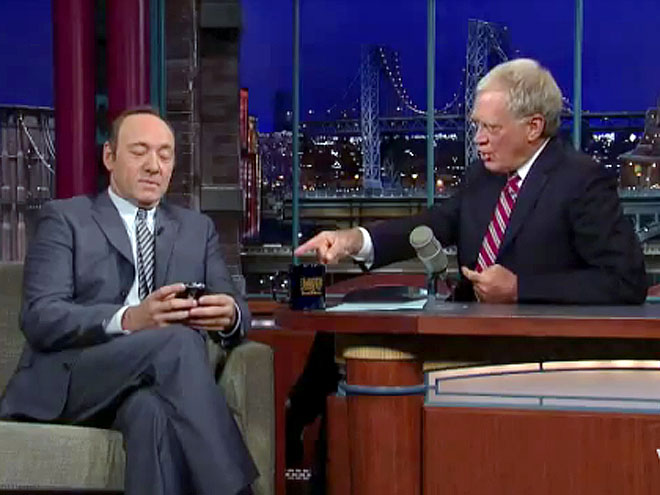 photo | David Letterman, Kevin Spacey