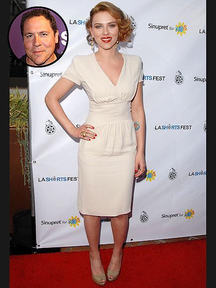 photo | Jon Favreau, Scarlett Johansson