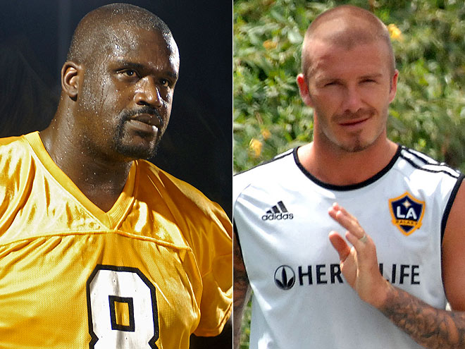 photo | David Beckham, Shaquille O'Neal