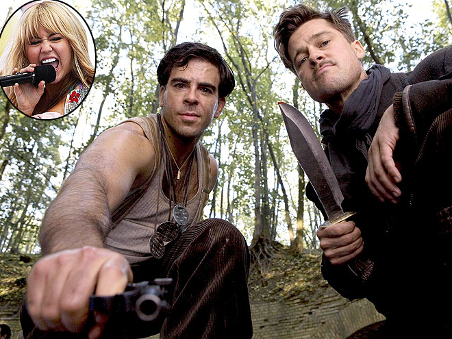 photo | Brad Pitt, Eli Roth, Miley Cyrus