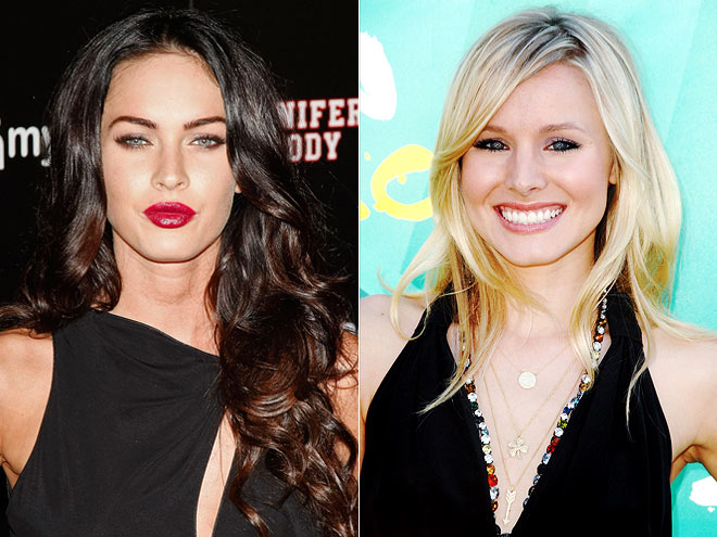 photo | Kristen Bell, Megan Fox