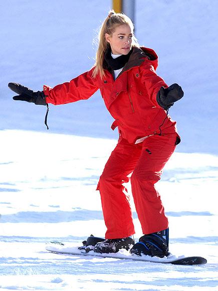 DENISE SNOWBOARDS! photo | Denise Richards