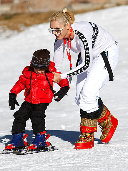 GWEN AND KINGSTON SKI! photo | Gwen Stefani, Kingston Rossdale