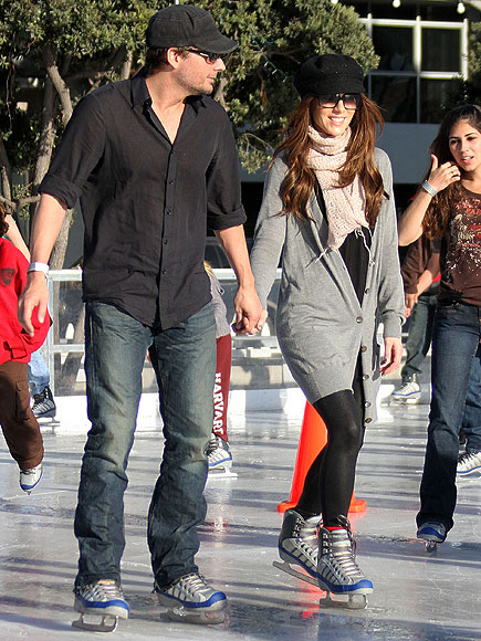 KATE AND LEN SKATE! photo | Kate Beckinsale