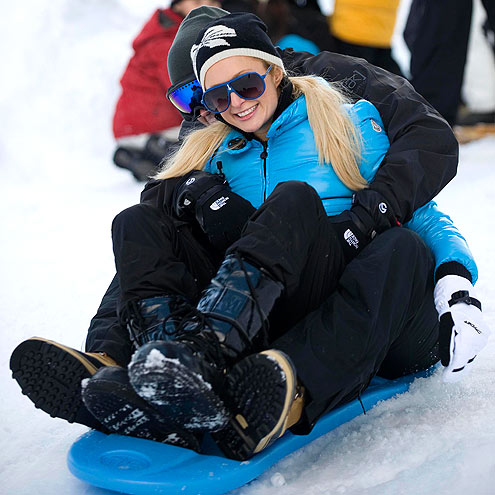 PARIS & DOUG SLED!  photo | Paris Hilton