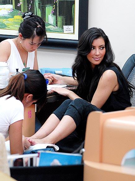 9. GET PAMPERED photo | Kim Kardashian