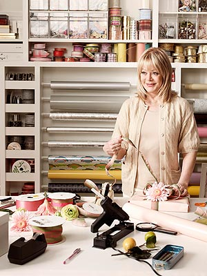 GIFT-WRAPPING ROOM photo | Candy Spelling