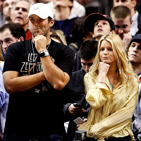 THEY'RE GAME  photo | Jessica Simpson, Tony Romo