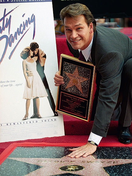 EARNING HIS STAR  photo | Patrick Swayze