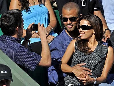 TENNIS photo | Eva Longoria, Tony Parker