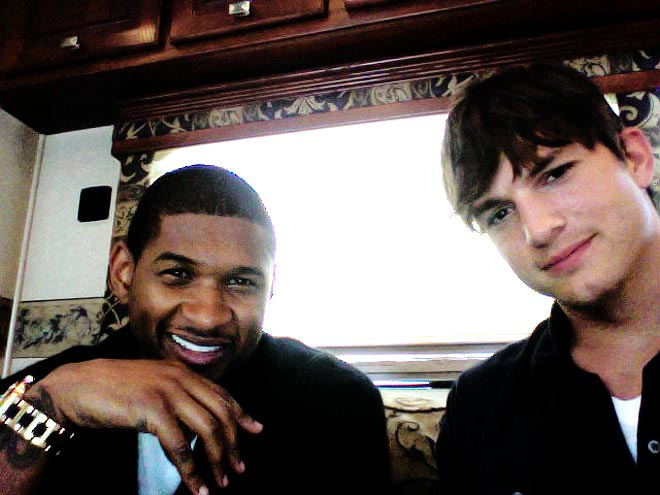 ASHTON & USHER photo  Ashton Kutcher, Usher