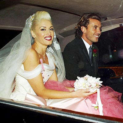 THE WEDDING DRESS WAS PINK! photo | Gavin Rossdale, Gwen Stefani