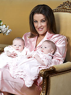 Lisa Marie Presley twins daugher Michael Lockwood Finley and Harper
