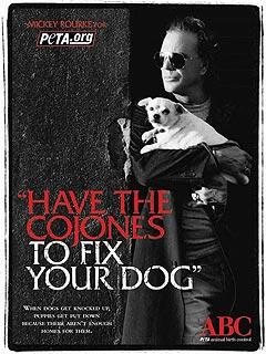 PHOTO: Mickey Rourke's New PETA Ad