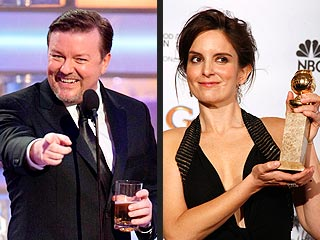 Wacky Speeches Punctuate Golden Globes | Ricky Gervais, Tina Fey