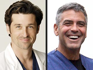 Clooney vs. Dempsey? No Competition Between TV Docs | George Clooney, Patrick Dempsey