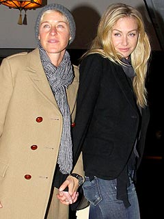 Ellen & Portia Celebrate B-Days with Joint Bash