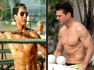 POLL: Tom Cruise's Rock-Hard Abs Then and Now