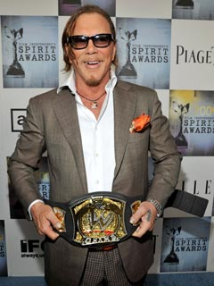 Mickey Rourke Wins, Gives Rambling Speech at Spirit Awards