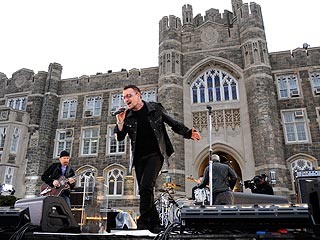 The Guys from U2 Go to College