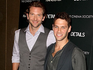 Photo of Justin Bartha & his friend actor  Bradley Cooper - New York