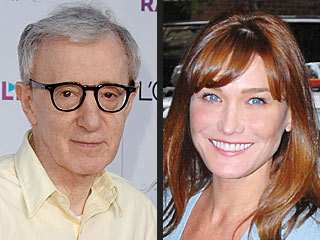 Carla Bruni Films Woody Allen Movie in Paris with Owen Wilson | Carla Bruni, Woody Allen