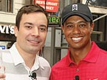 Tiger Tees Off Against Jimmy! | Jimmy Fallon, Tiger Woods