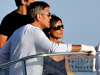 George Clooney Serenades the Crowd in Venice