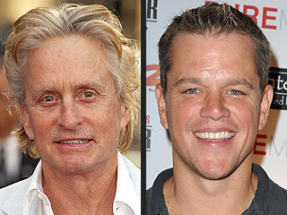 Matt Damon: Kissing Michael Douglas Is Like Kissing Catherine Zeta-Jones | Matt Damon, Michael Douglas