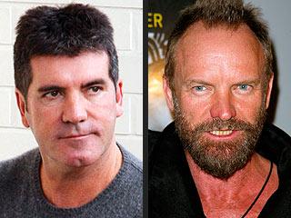 Simon Cowell and Sting Trade Barbs | Simon Cowell