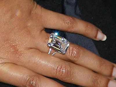 What singer-actress sparkles in this $5 million wedding ring?
